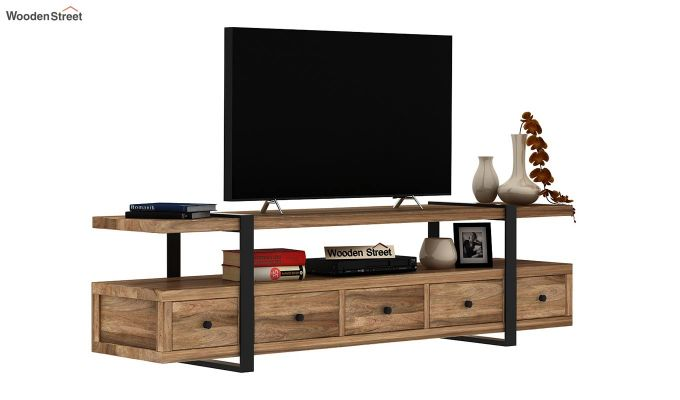 Solari Tv Unit (Natural Finish) (Natural Finish)-2