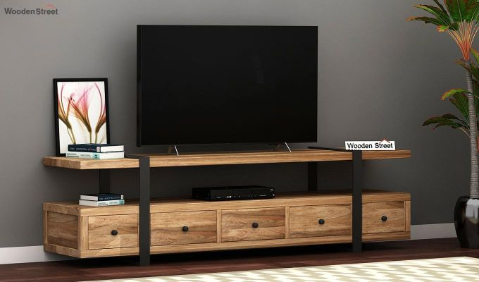 Solari Tv Unit (Natural Finish) (Natural Finish)-1