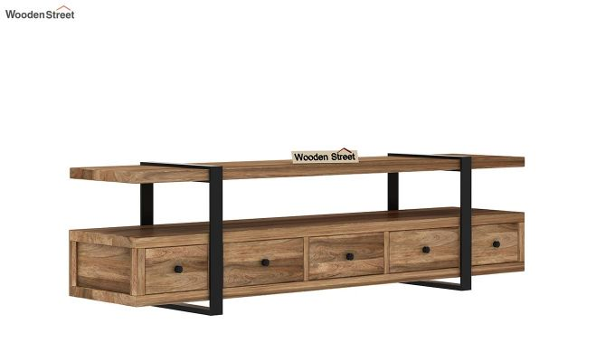 Solari Tv Unit (Natural Finish) (Natural Finish)-4