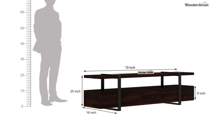 Solari Tv Unit (Walnut Finish)-7