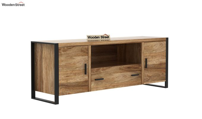 Stalley Loft Tv Unit With Drawers (Natural Finish)-4