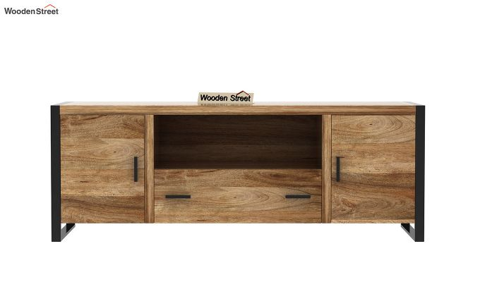 Stalley Loft Tv Unit With Drawers (Natural Finish)-5