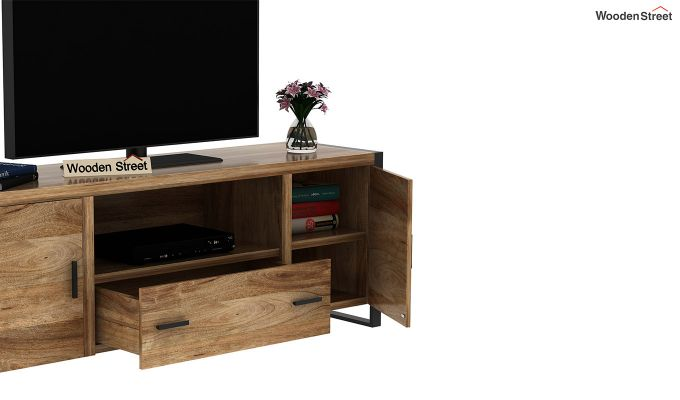 Stalley Loft Tv Unit With Drawers (Natural Finish)-6