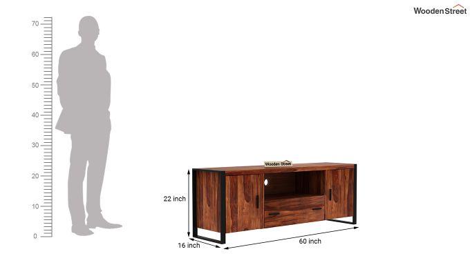 Stalley Loft Tv Unit With Drawers (Honey Finish)-5