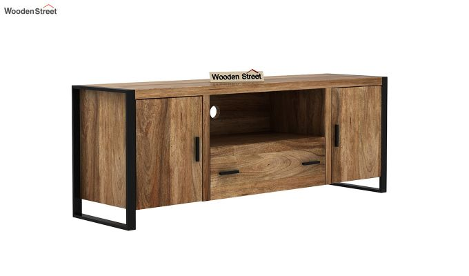 Stalley Loft Tv Unit With Drawers (Natural Finish)-2