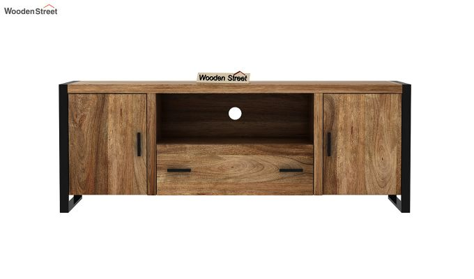 Stalley Loft Tv Unit With Drawers (Natural Finish)-3