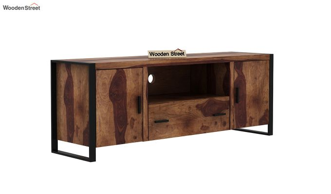Stalley Loft Tv Unit With Drawers (Teak Finish)-2