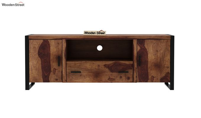 Stalley Loft Tv Unit With Drawers (Teak Finish)-3