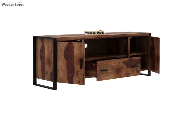 Stalley Loft Tv Unit With Drawers (Teak Finish)-4