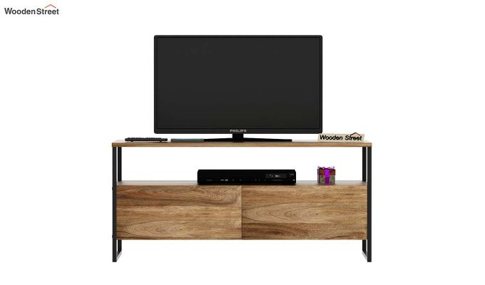 Stark Loft Tv Unit With Side Towers (Natural Finish)-7