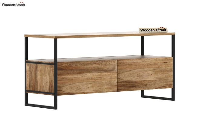 Stark Loft Tv Unit With Side Towers (Natural Finish)-8