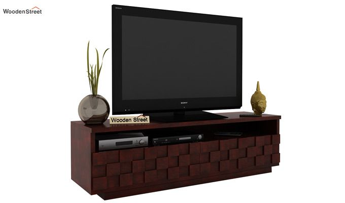 Travis Tv Unit (Mahogany Finish)-1