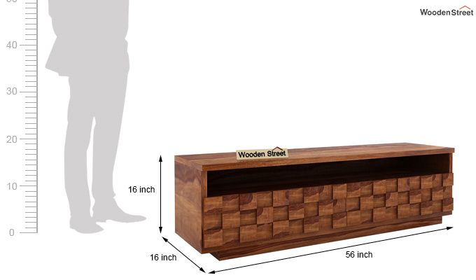 Travis Tv Unit (Teak Finish)-4