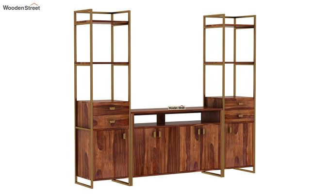 Twin TV Unit (Teak Finish)-3