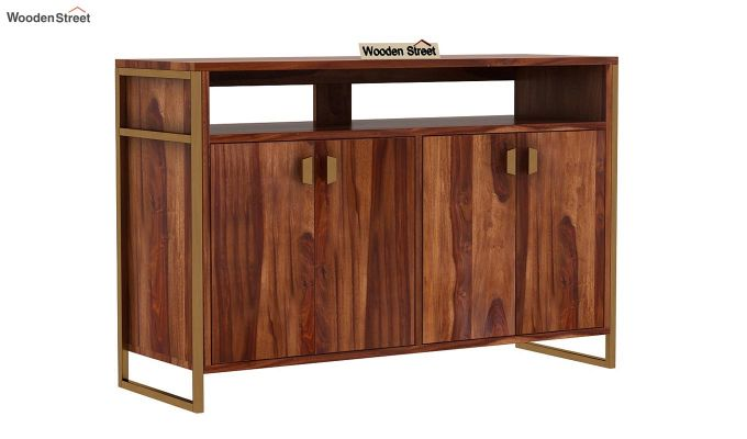 Twin TV Unit (Teak Finish)-7