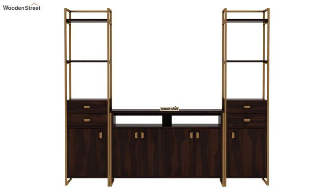 Twin TV Unit (Walnut Finish)-4