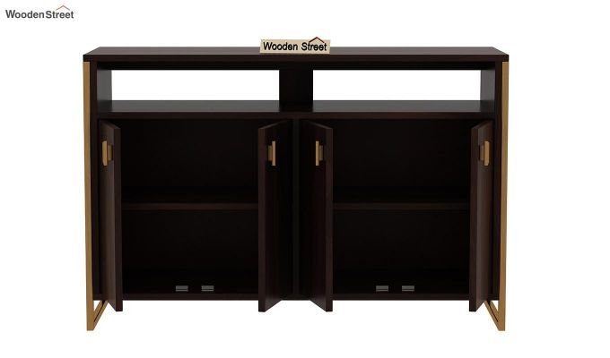 Twin TV Unit (Walnut Finish)-8