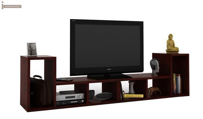 Vincent Multi-Functional Tv Unit (Mahogany Finish)-1