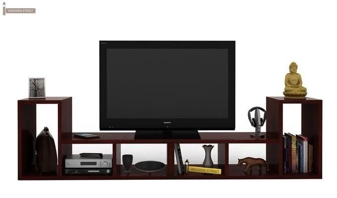 Vincent Multi-Functional Tv Unit (Mahogany Finish)-2