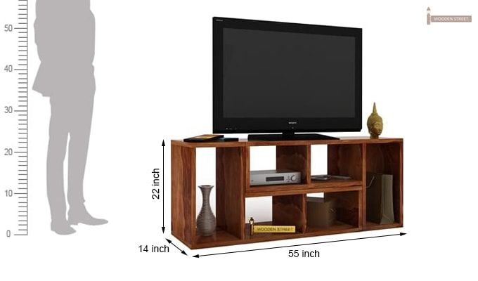 Vincent Multi-Functional Tv Unit (Teak Finish)-6
