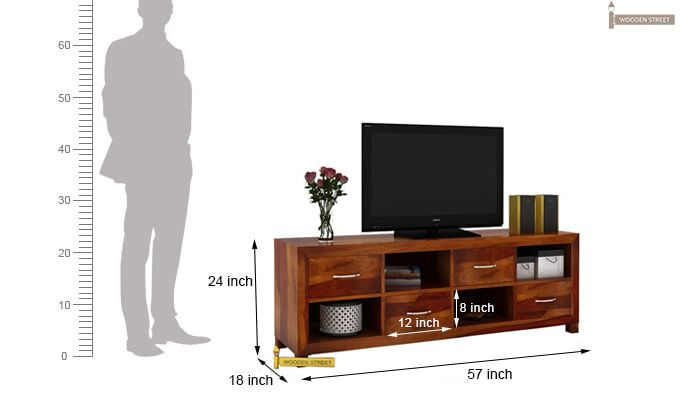 Weston Tv Unit (Honey Finish)-3