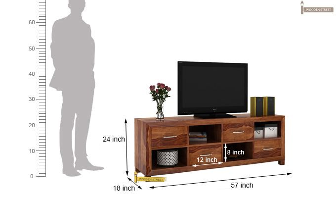 Weston Tv Unit (Teak Finish)-3