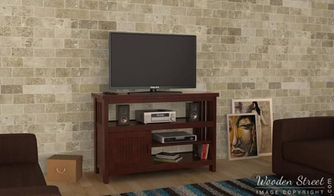 Willis Tv Unit (Mahogany Finish)-1