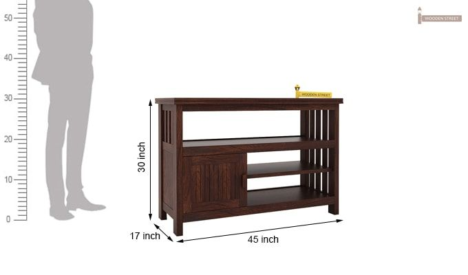 Willis Tv Unit (Walnut Finish)-5