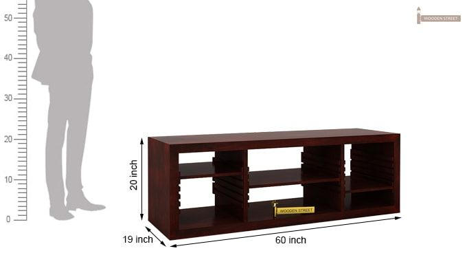 Wilmor Tv Unit (Mahogany Finish)-4