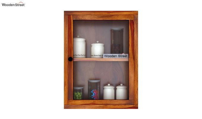Benitez Wall Shelf (Honey Finish)-3
