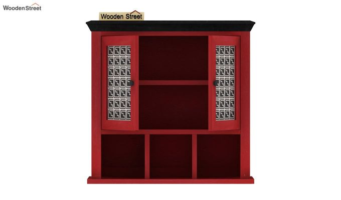 Harp Red Painted Maze Print Kitchen Rack-5