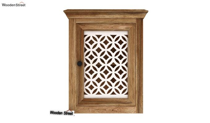 Kell Latticed Wall Shelf (Natural Finish)-3