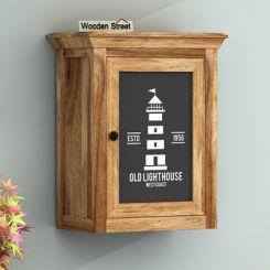 Kell Lighthouse Print Wall Shelf