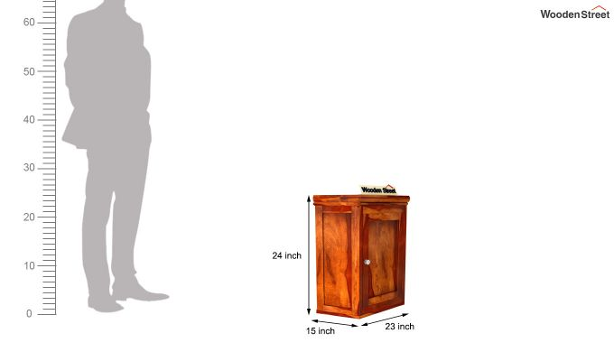 Odom Wall Shelf (Honey Finish)-6