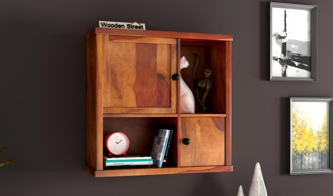 Ripley Wall Shelf (Honey Finish)-1