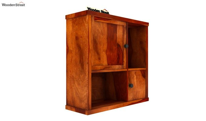 Ripley Wall Shelf (Honey Finish)-3