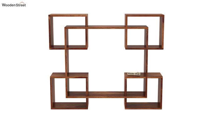 Squire Wall Shelf (Teak Finish)-3