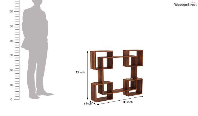 Squire Wall Shelf (Teak Finish)-4