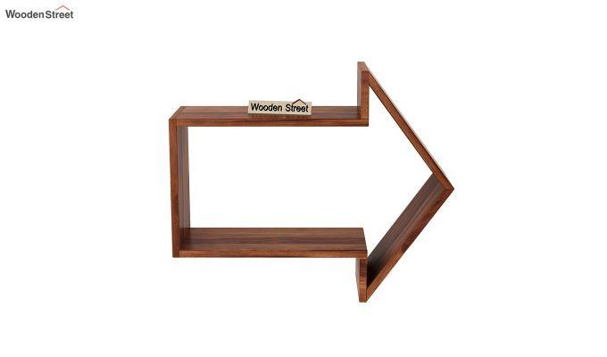 Arrow Wall Shelf (Teak Finish)-3