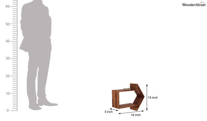 Arrow Wall Shelf (Teak Finish)-4