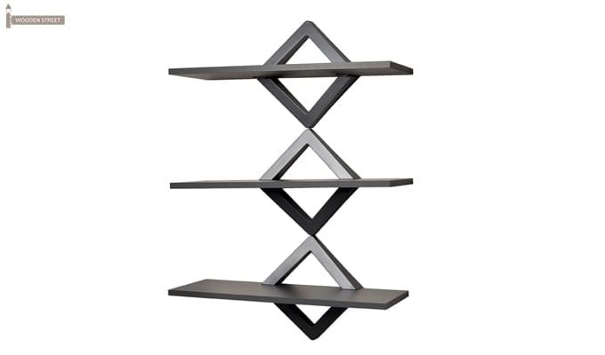 Ava Wall Shelves (Black Finish)-2