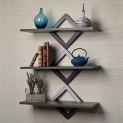 Ava Wall Shelves (Black Finish)