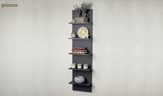Baize Wall Mounted Rack (Black Finish)-1