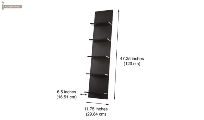 Baize Wall Mounted Rack (Black Finish)-3
