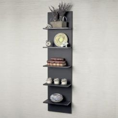 Baize Wall Mounted Rack (Black Finish)