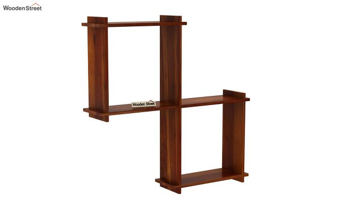 Bison Wall Shelf (Honey Finish)-2