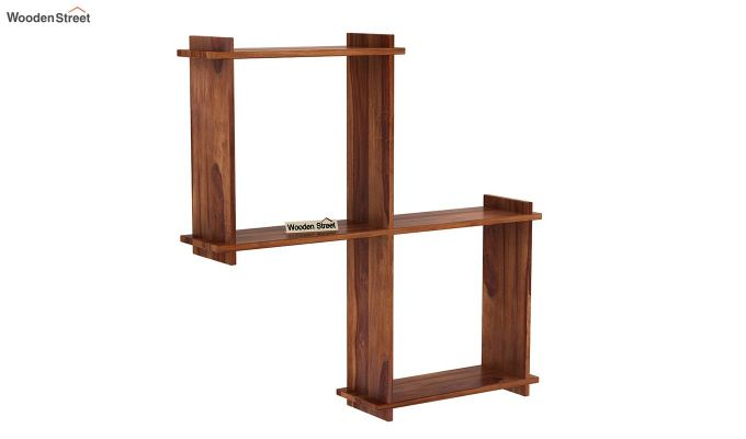 Bison Wall Shelf (Teak Finish)-2