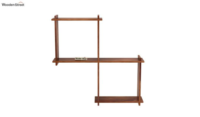 Bison Wall Shelf (Teak Finish)-3