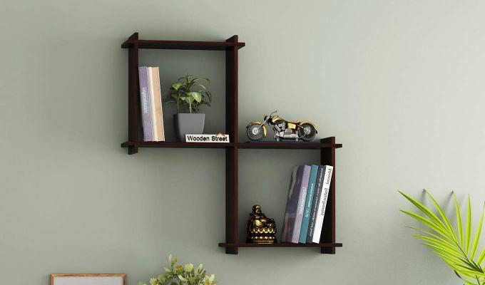 Bison Wall Shelf (Walnut Finish)-1