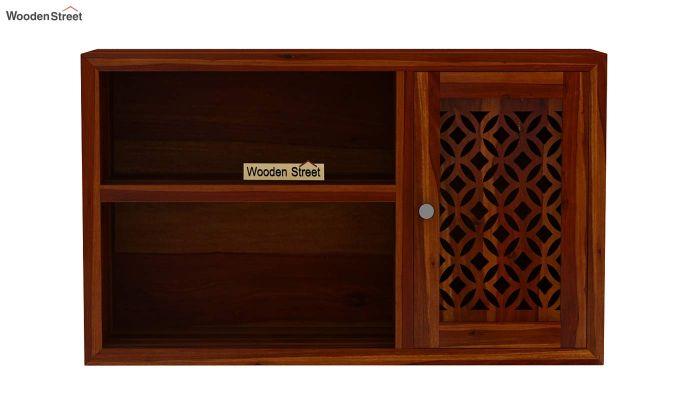 Cambrey Wall Shelf (Honey Finish)-5
